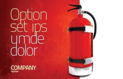 Fire Extinguisher Postcard Template, Outer Page, 05641, Careers/Industry — PoweredTemplate.com