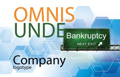 Bankrupt Postcard Template, Outer Page, 05652, Financial/Accounting — PoweredTemplate.com
