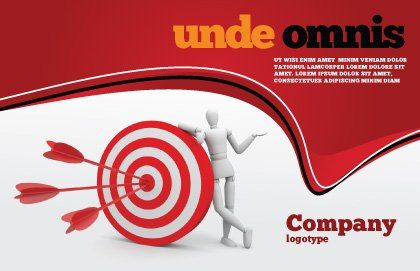 Reach Target Postcard Template, Outer Page, 05667, Consulting — PoweredTemplate.com