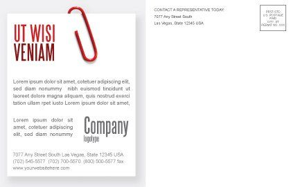 Paperclip Postcard Template Inner Page