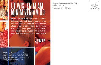 Primary School Postcard Template, Inner Page, 05730, Education & Training — PoweredTemplate.com