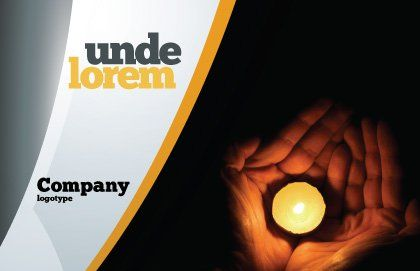 Candle In Hands Postcard Template Outer Page