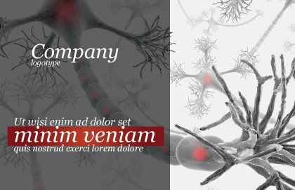 Neural Nodes Postcard Template, Outer Page, 05826, Medical — PoweredTemplate.com