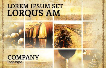 Winegrowing Postcard Template, Outer Page, 06049, Agriculture and Animals — PoweredTemplate.com