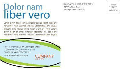 Green City Postcard Template, Inner Page, 06283, Nature & Environment — PoweredTemplate.com