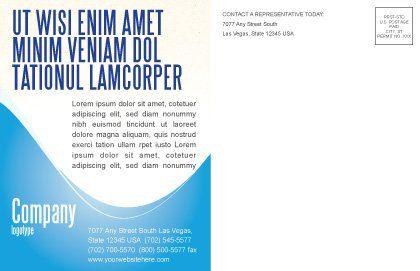 Waiter Postcard Template, Inner Page, 06397, Business Concepts — PoweredTemplate.com