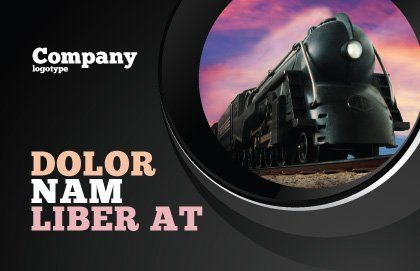 Steam Locomotive Postcard Template, Outer Page, 06610, Cars/Transportation — PoweredTemplate.com