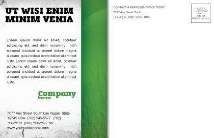 Green World in Human Hands Postcard Template, Inner Page, 06955, Nature & Environment — PoweredTemplate.com