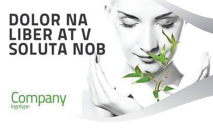 Bio Cosmetics Postcard Template, Outer Page, 07032, Nature & Environment — PoweredTemplate.com