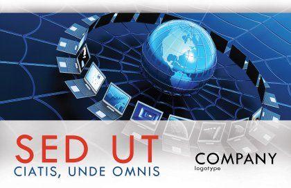 Telecommunication Progress Postcard Template Outer Page