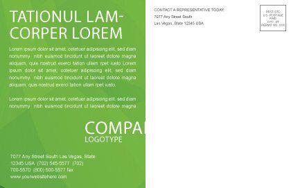 Green Habitat Postcard Template, Inner Page, 07037, Nature & Environment — PoweredTemplate.com