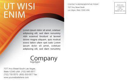Sun Light Theme Postcard Template, Inner Page, 07077, Abstract/Textures — PoweredTemplate.com