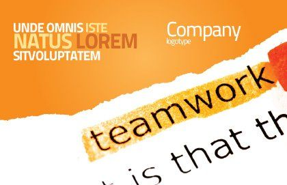 Teamwork Principles Postcard Template, Outer Page, 07133, Education & Training — PoweredTemplate.com