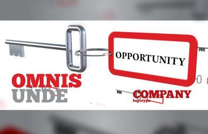 Key Opportunity Postcard Template, Outer Page, 07495, Consulting — PoweredTemplate.com