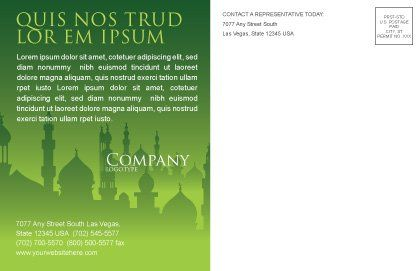 Coran Postcard Template, Inner Page, 07628, Religious/Spiritual — PoweredTemplate.com