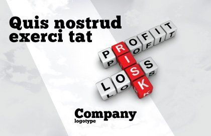 Profit and Risk Postcard Template Outer Page