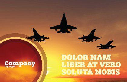 Aircraft Parade Postcard Template, Outer Page, 07701, Military — PoweredTemplate.com