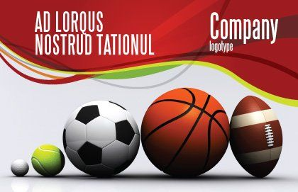 Sport Balls Postcard Template Outer Page