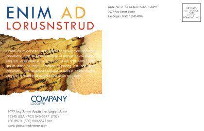 South Atlantics Postcard Template, Inner Page, 08151, Careers/Industry — PoweredTemplate.com