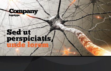 Neurons Networks Postcard Template, Outer Page, 08156, Medical — PoweredTemplate.com