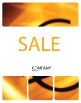 Financial/Accounting: Modello Poster - Giallo valuta euro colorato #00081