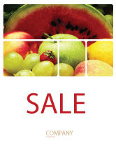Food & Beverage: Fresh Fruits Of Summer Sale Poster Template #00689
