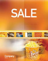 Art & Entertainment: Popcorn Sale Poster Template #00962