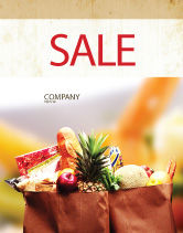 Food & Beverage: Grocery Bag Sale Poster Template #00972