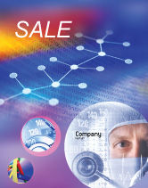 Technology, Science & Computers: Chemical Compound Sale Poster Template #01029