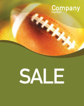 Sports: Ball Lacing Sale Poster Template #01254