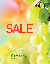 Food & Beverage: Witte Druif Poster Template #01281