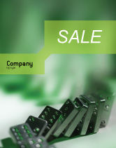 Business Concepts: Domino Sale Poster Template #01521