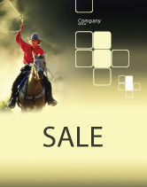 America: Cowboy Sale Poster Template #01588