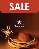 America: Cowboy Hat Sale Poster Template #01616
