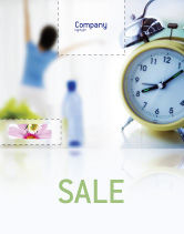 Sports: Morning Exercises Sale Poster Template #01644