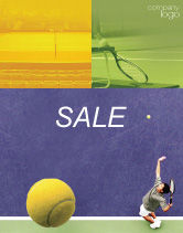 Sports: Tennis Sale Poster Template #01697
