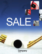 Sports: Hockey Sale Poster Template #01700