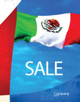 Flags/International: Mexican Flag Sale Poster Template #01716