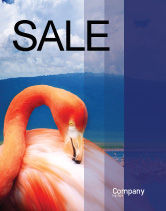 Agriculture and Animals: Flamingo Sale Poster Template #01725