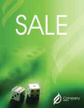 Art & Entertainment: Dice On A Green Cloth Sale Poster Template #01735