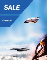Military: Modelo de Cartaz - avião de combate #01747