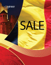 Flags/International: Belgian Flag Sale Poster Template #01751