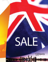 Flags/International: Australian Flag Sale Poster Template #01774