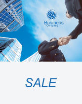 Business: Business Meeting Outdoor Sale Poster Template #01818