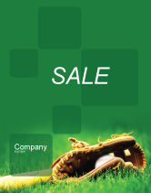 Sports: Honkbal Handschoen En Vleermuis Poster Template #01833