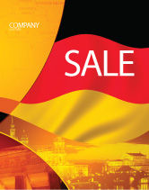 Flags/International: German Flag Sale Poster Template #01837