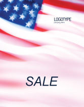 America: Flag of the United States of America Sale Poster Template #01851