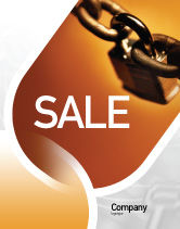 Consulting: Lock This Chain Sale Poster Template #01934
