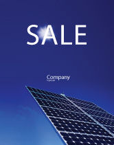 Technology, Science & Computers: Solar Panels Rising Up Power Sale Poster Template #01936