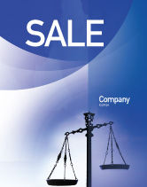 Legal: Symbol of Justice Sale Poster Template #01941
